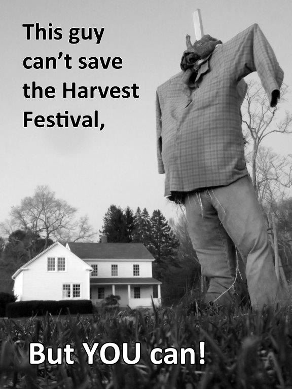 This guy (scarecrow) can't save the Harvest Festival, but YOU can!
