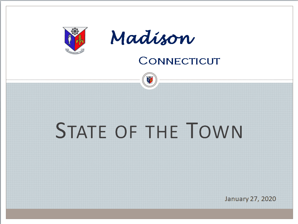 Madison Connecticut State of the Town 2020