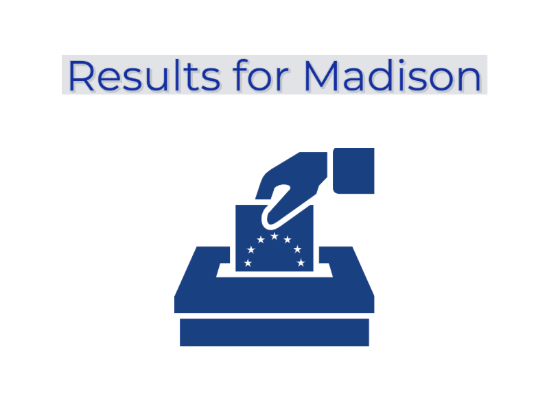 voting results for Madison