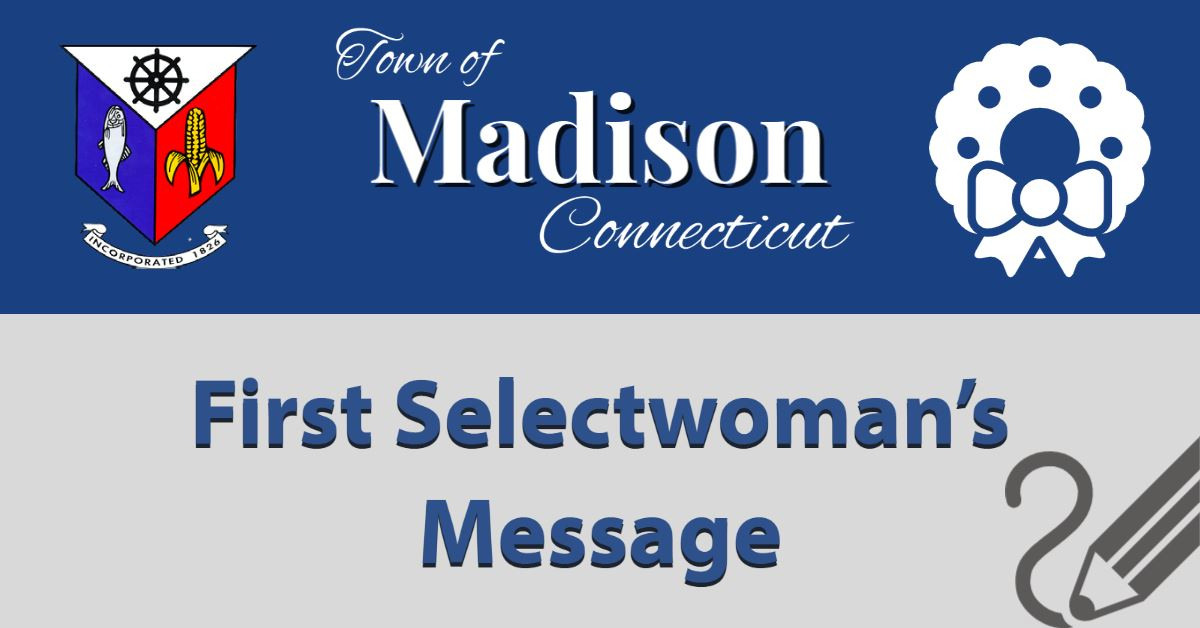 Holiday First Selectwoman message.png