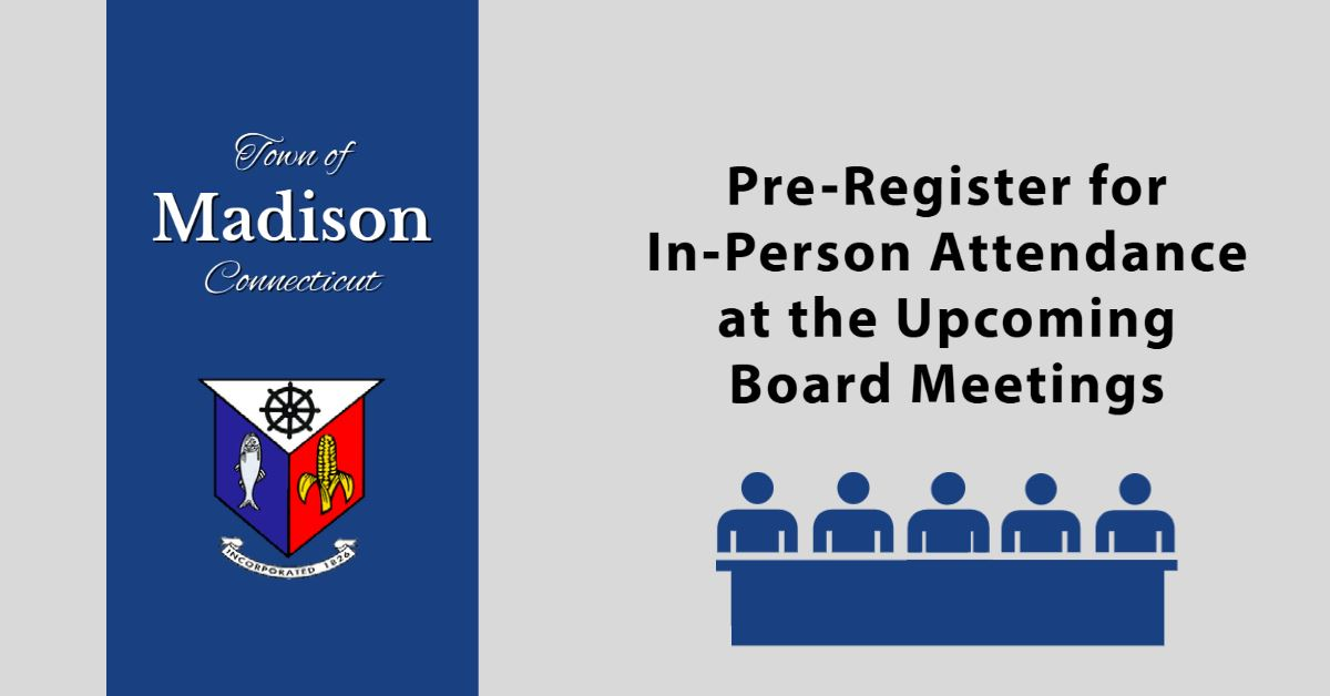 Pre-register for in-person attendance at upcoming Board Meetings