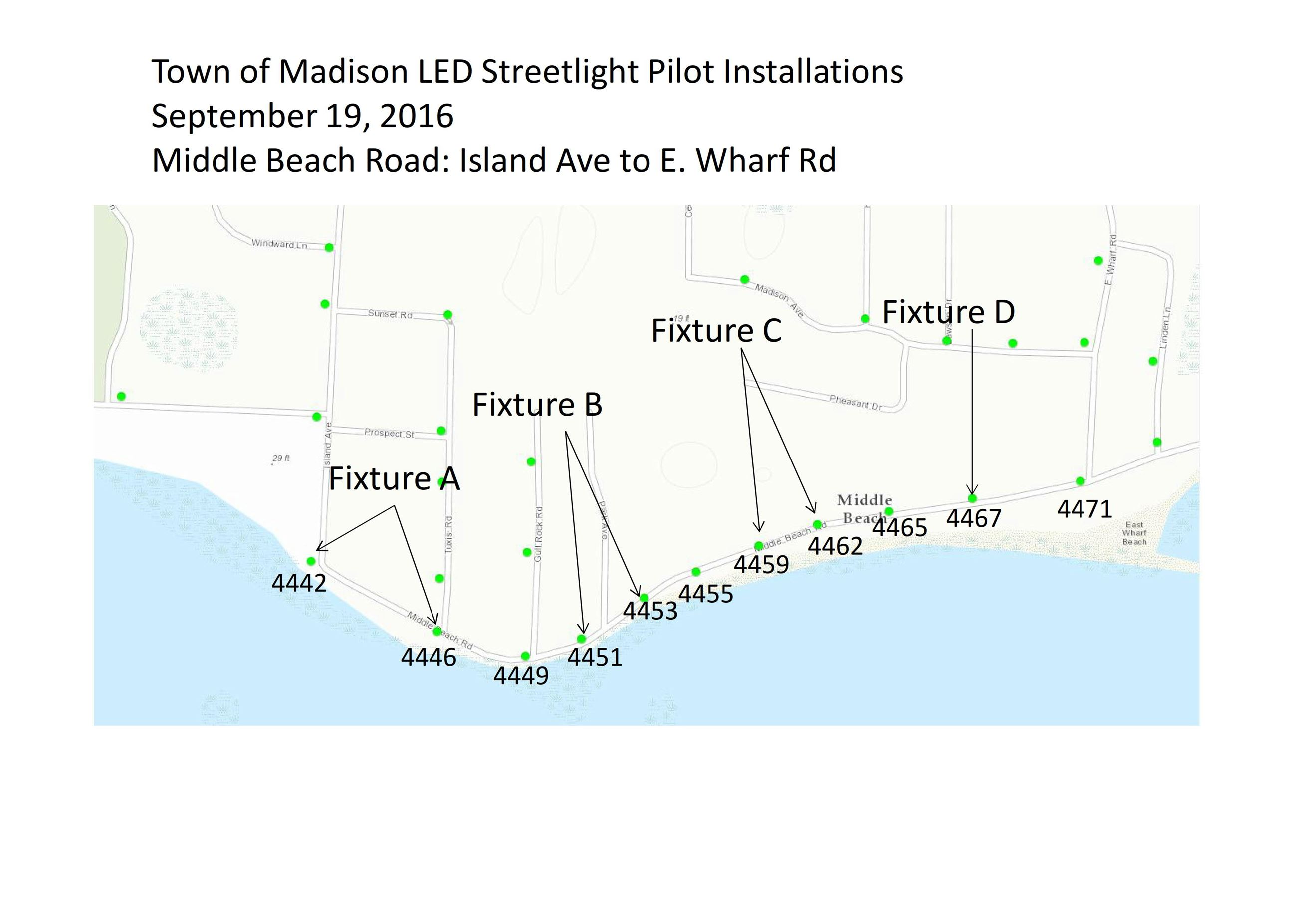 Streetlight Pilot Map